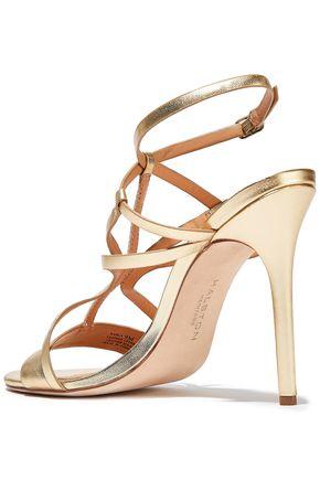 HALSTON HERITAGE Karla metallic leather sandals