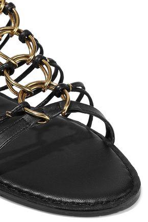 DONNA KARAN Tilly ring-embellished leather sandals