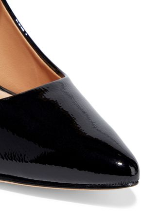 HALSTON HERITAGE Sally patent-leather Mary Jane pumps