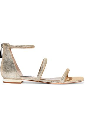 DONNA KARAN Galina metallic leather sandals