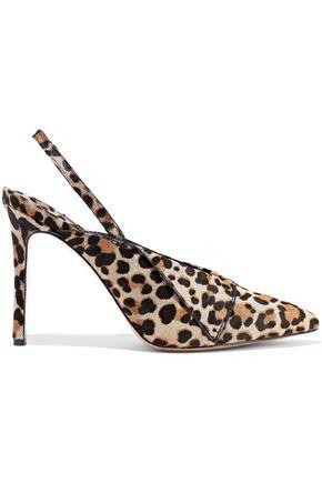 ALICE + OLIVIA Leopard-print calf hair pumps