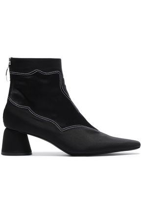 ELLERY Satin-paneled faille ankle boots