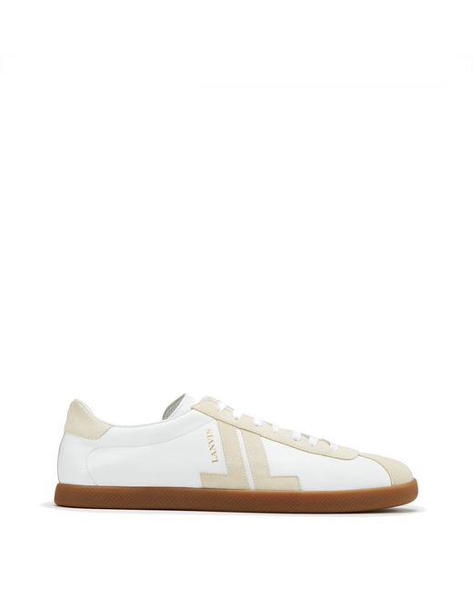 "DUAL-MATERIAL ""JL"" LOW-TOP SNEAKERS - Lanvin"