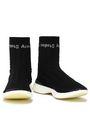 ACNE STUDIOS Batilda mesh-trimmed stretch-knit sneakers