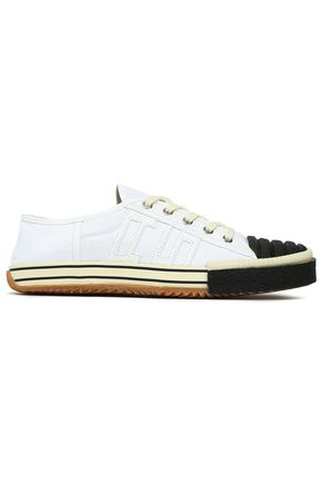 ACNE STUDIOS Appliquéd quilted two-tone cotton-canvas sneakers