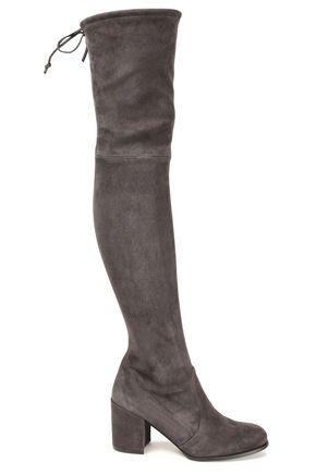 STUART WEITZMAN Suede thigh boots
