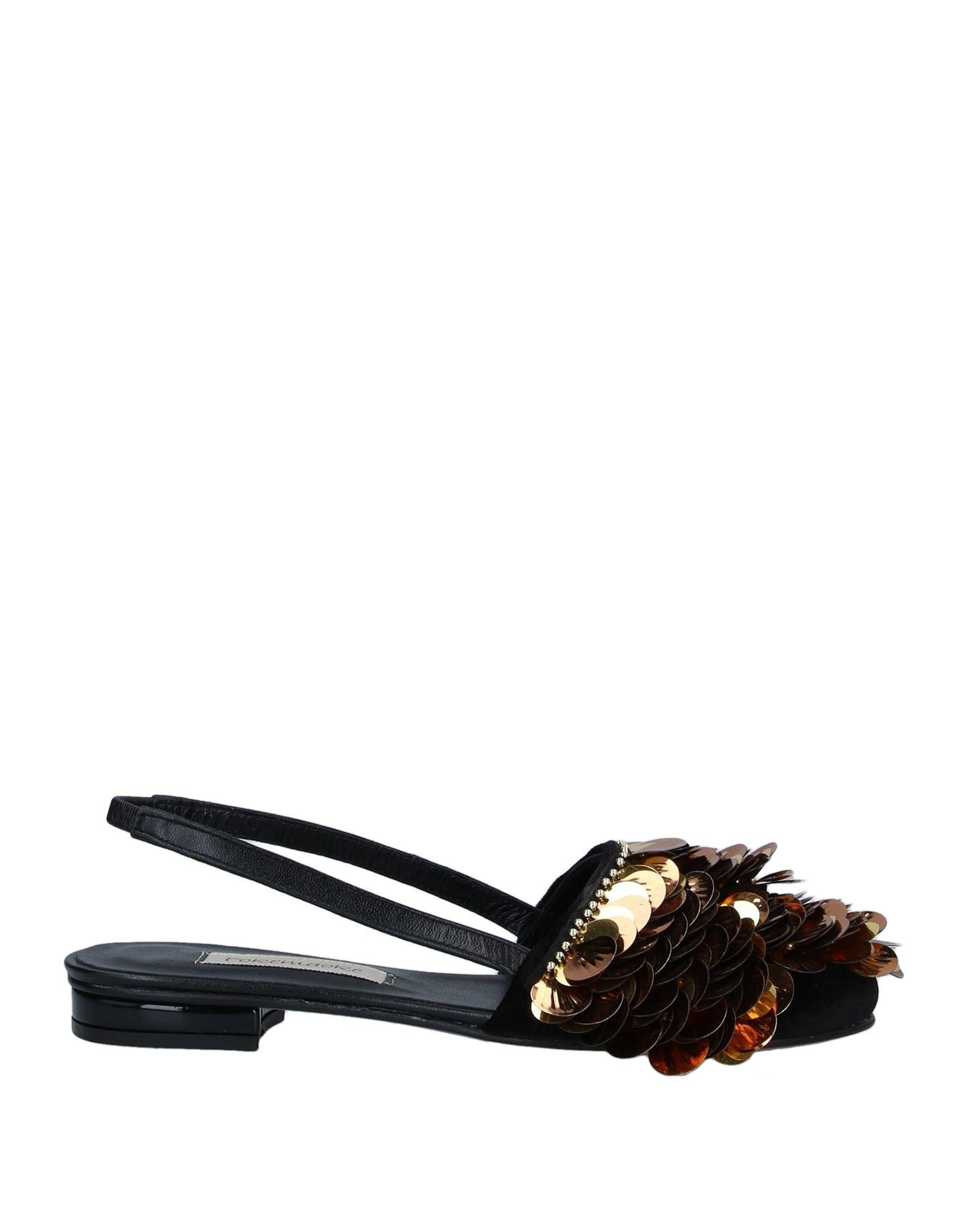 《セール開催中》POKEMAOKE レディース バレエシューズ ブラック 37 紡績繊維 / 革