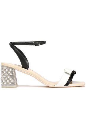 SOPHIA WEBSTER Bow-detailed patent-leather sandals