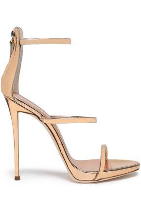 GIUSEPPE ZANOTTI Metallic mirrored-leather sandals