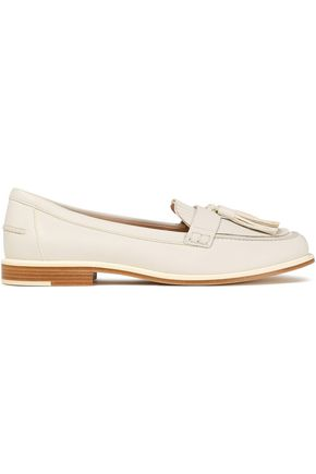 TOD'S Tasseled pebbled-leather loafers