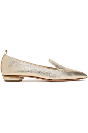 NICHOLAS KIRKWOOD Metallic textured-leather slippers