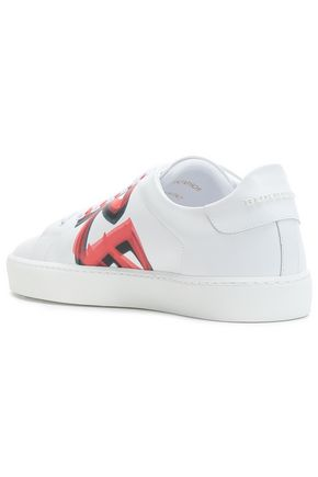 BURBERRY Painted leather sneakers