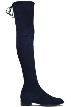 STUART WEITZMAN Stretch-suede thigh boots
