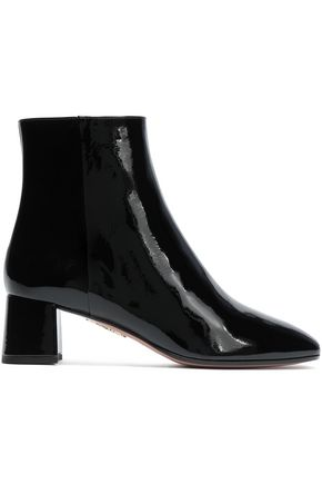 AQUAZZURA Grenelle patent-leather ankle boots