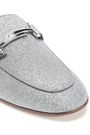 TOD'S Glittered leather loafers