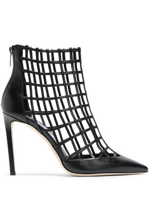 JIMMY CHOO Sheldon 100 cutout leather ankle boots