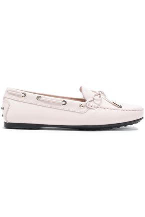 TOD'S Bow-embellished leather moccasins