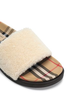 BURBERRY Shearling slides