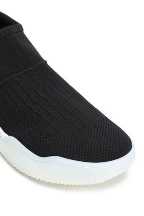 STELLA McCARTNEY Ribbed stretch-knit sneakers