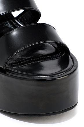 SIMONE ROCHA Glossed-leather platform sandals