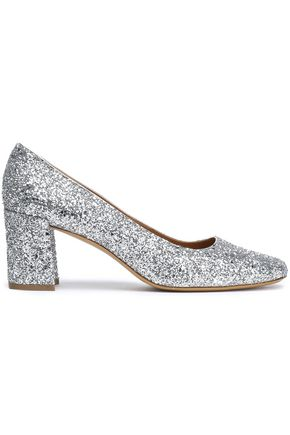 MANSUR GAVRIEL Glittered leather pumps