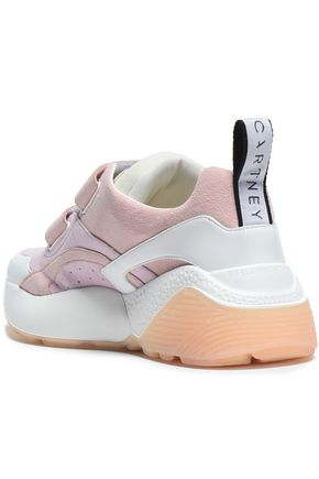 STELLA McCARTNEY Color-block faux suede sneakers