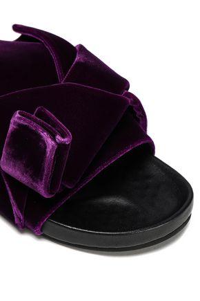 N°21 Knotted velvet slides