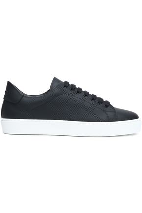 BURBERRY Perforated leather sneakers