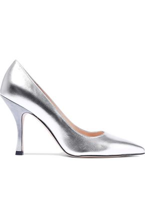 STUART WEITZMAN Metallic leather pumps
