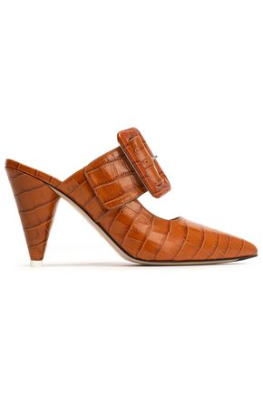 ATTICO Chloe croc-effect leather mules