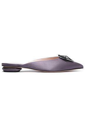 NICHOLAS KIRKWOOD Embellished satin slippers