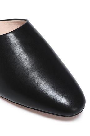 NICHOLAS KIRKWOOD Pearl-embellished leather mules