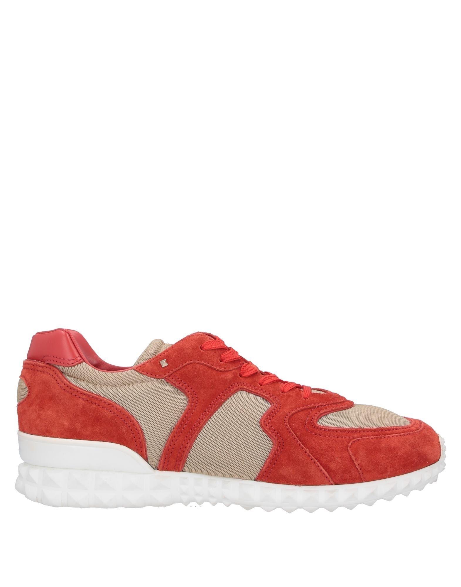 《送料無料》VALENTINO GARAVANI メンズ スニーカー&テニスシューズ(ローカット) 赤茶色 44 革 / 紡績繊維