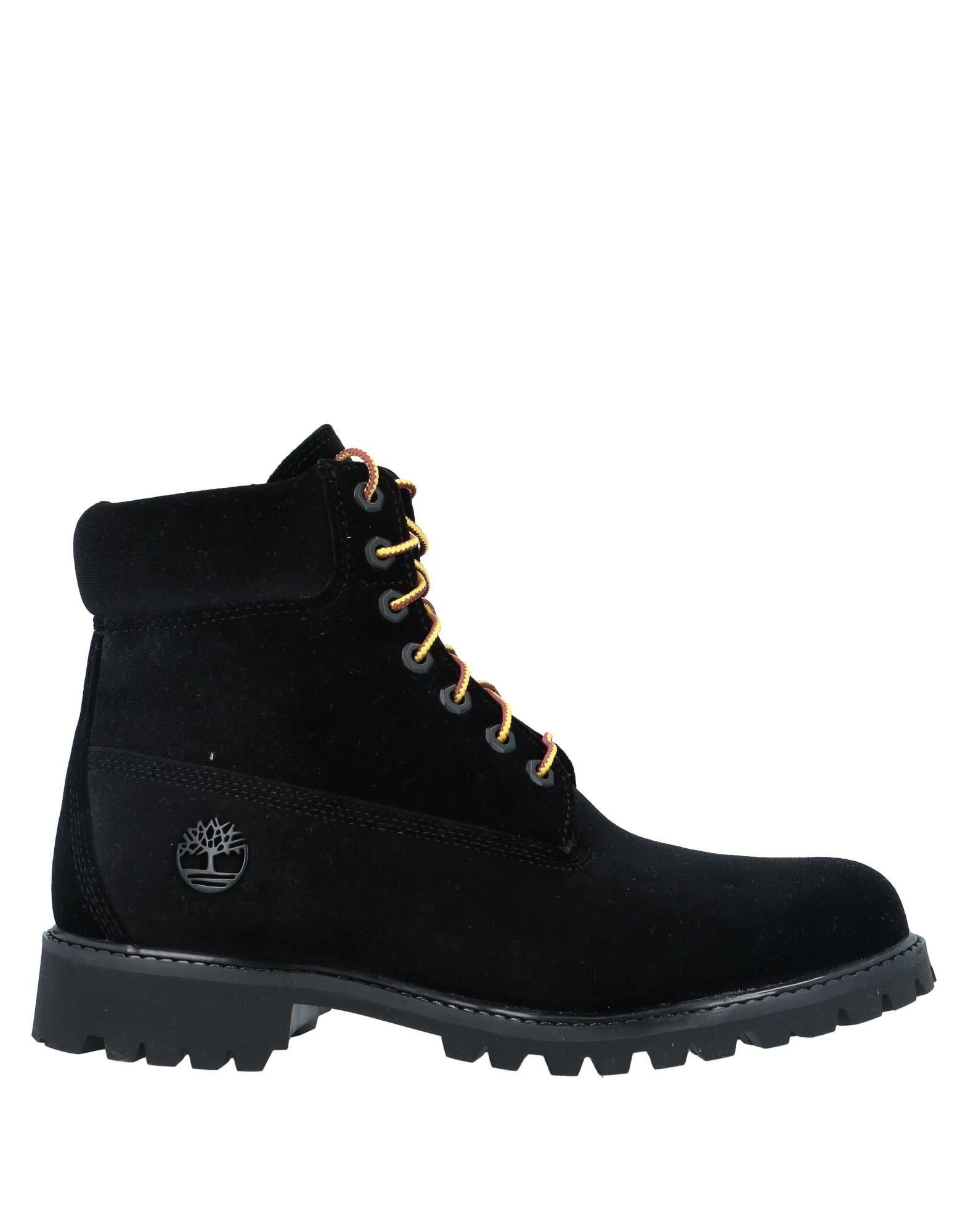 《セール開催中》OFF-WHITE? x TIMBERLAND メンズ ショートブーツ ブラック 8 紡績繊維