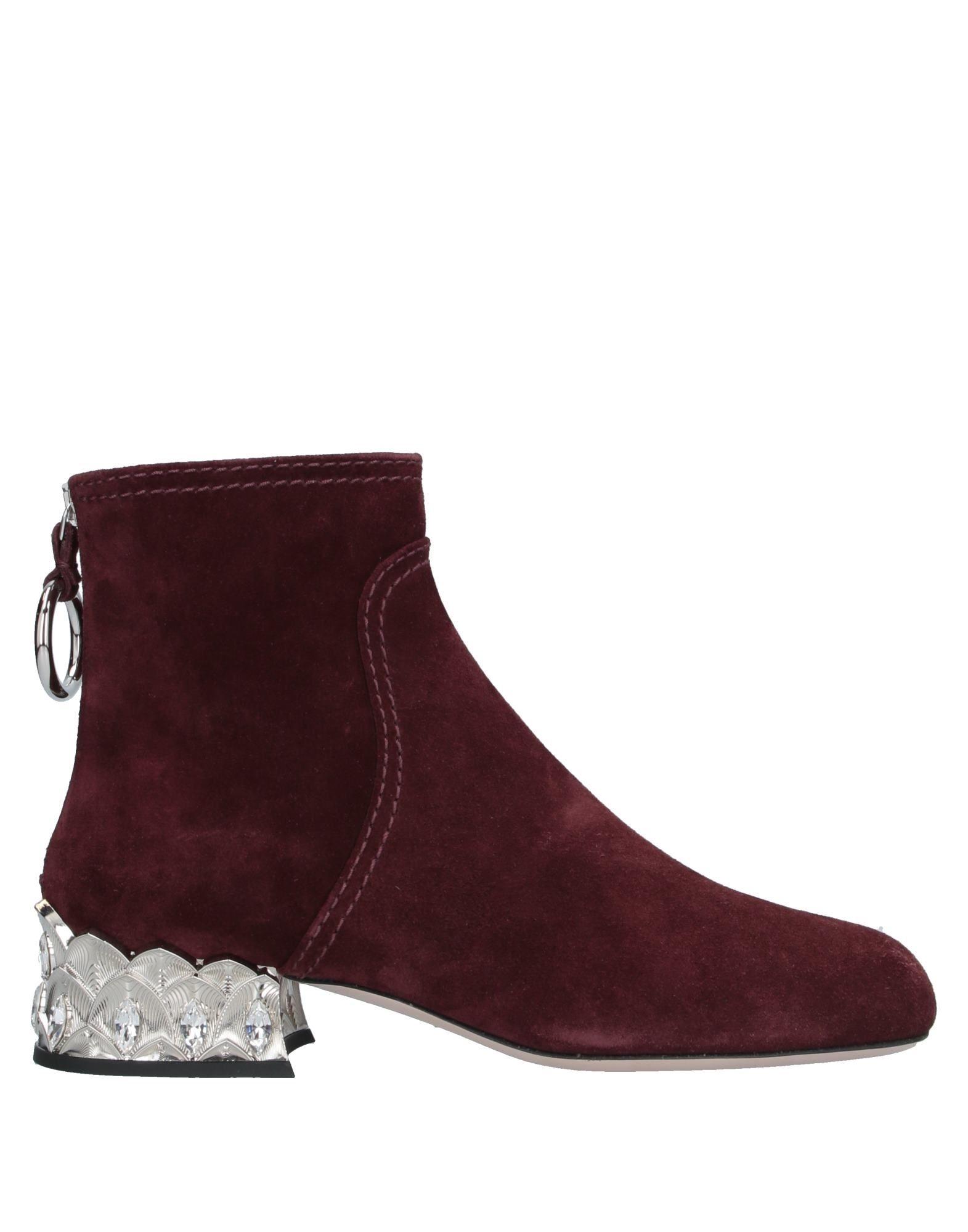 MIU MIU Полусапоги и высокие ботинки miu miu черный шерстяной кардиган