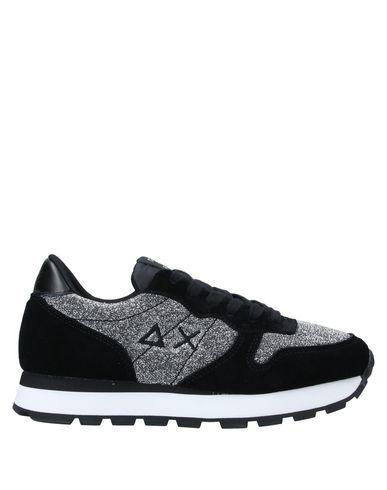 Купить Низкие кеды и кроссовки от SUN 68 серебристого цвета