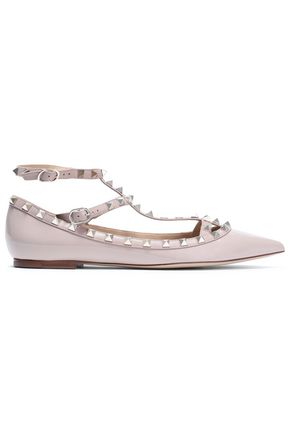 VALENTINO GARAVANI Rockstud patent-leather point-toe flats