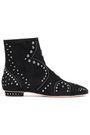 VALENTINO GARAVANI Studded suede ankle boots