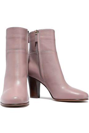 Valentino Garavani Lovestud Leather Ankle Boots In Antique Rose