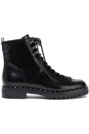 VALENTINO GARAVANI Soul Rockstud glossed-leather ankle boots