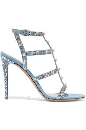 VALENTINO GARAVANI Rockstud embellished suede sandals