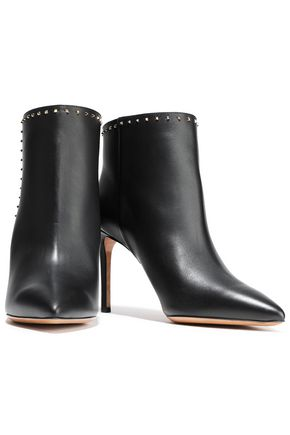 VALENTINO GARAVANI Studded leather ankle boots