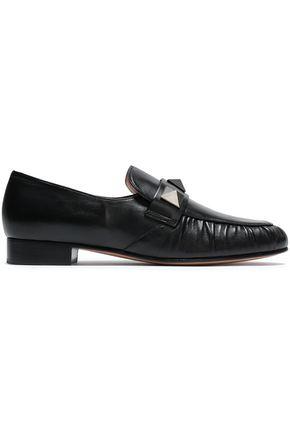 VALENTINO GARAVANI Studded leather loafers
