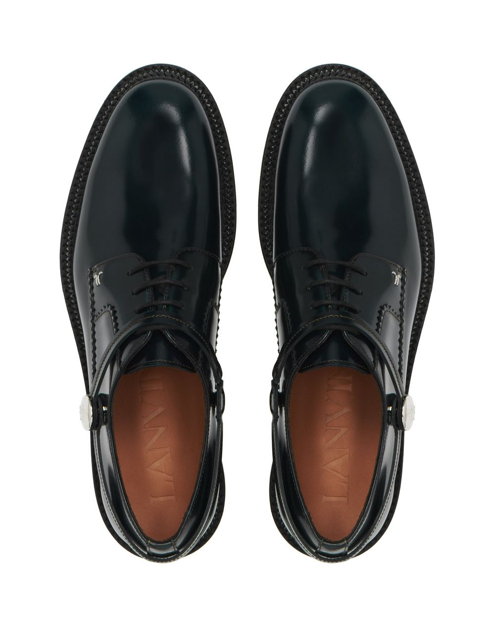 DERBY SHOE IN SHINY CALFSKIN   - Lanvin