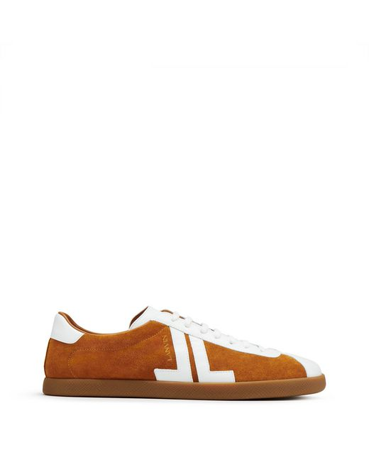 "DUAL-MATERIAL ""JL"" LOW-TOP TRAINERS - Lanvin"