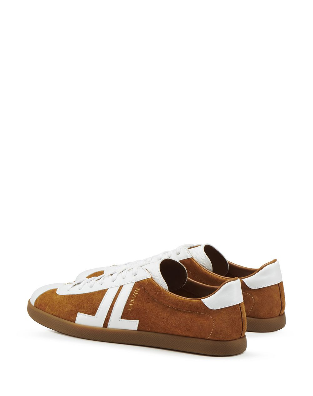 DUAL-MATERIAL JL LOW-TOP SNEAKERS - Lanvin