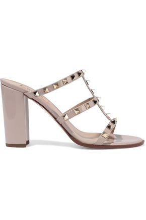 VALENTINO GARAVANI Rockstud patent-leather sandals