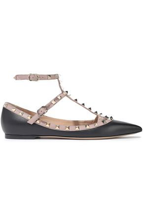 VALENTINO GARAVANI Rockstud leather point-toe flats