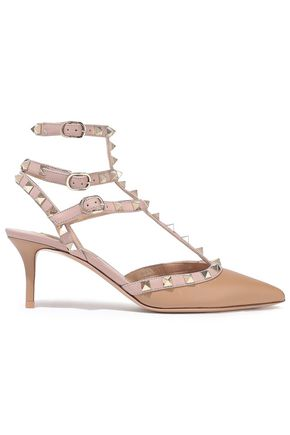 VALENTINO GARAVANI Rockstud two-tone leather pumps
