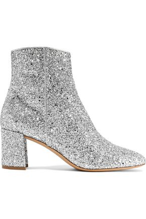 MANSUR GAVRIEL Glittered leather ankle boots